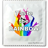 Gay Pride condoms -  Taste the Rainbow