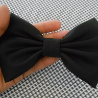 Big Black Satin Hair Bow, Girls Hairbow