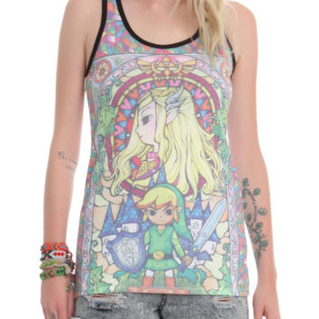 Nintendo The Legend Of Zelda: The Wind Waker Stained Glass Girls Tank Top