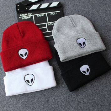 The New Trendy Alien Embroidered Beanies
