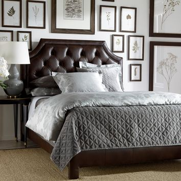 Alison Leather Bed, Quick Ship