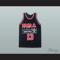 Shaquille O'Neal 13 USA Team Away Basketball Jersey