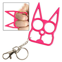 Pink Cat Self Defense Keychain