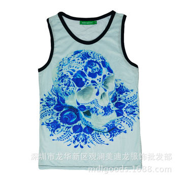 Bralette Comfortable Summer Stylish Hot Sexy Beach Skull Pattern Casual Slim Vest [4919603524]