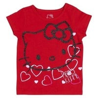 Hello Kitty™ Infant Toddler Girls' Tee - Really Red