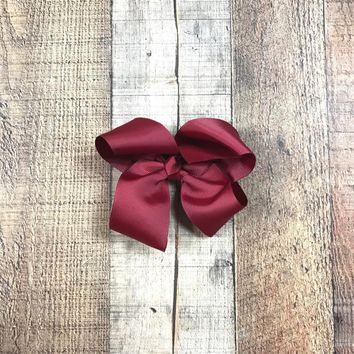 RTS Girls Burgundy Hair Bow
