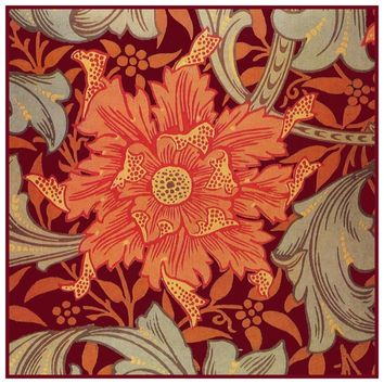 William Morris Orange Marigold detail Design Counted Cross Stitch or Counted Needlepoint Pattern