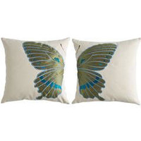 Offset Butterfly Pillow