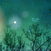 We Are Magic // Landscape Nature Photo, Custom Wedding Art Poster, Valentines, Anniversary, Romantic Decor, Fantasy, Night Sky, Stars