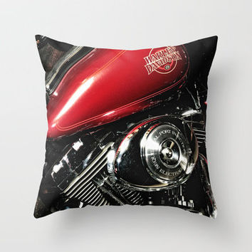 Harley Art Throw Pillow by Captive Images Photography | Society6