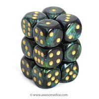 Scarab Jade 12d6 Dice Set | Awesome Dice
