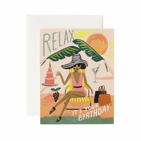 Relax Birthday Card by Rifle Paper Co.