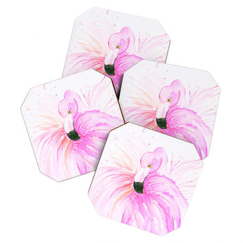 Monika Strigel Flamingo Ballerina Coaster Set