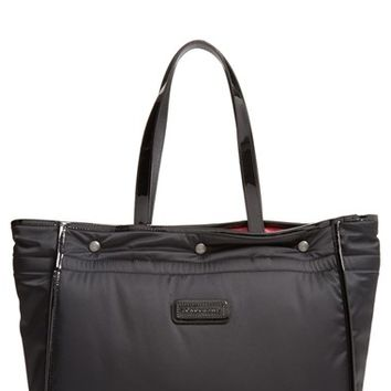 Longchamp 'Large Tweedy Plume' Tote - Black