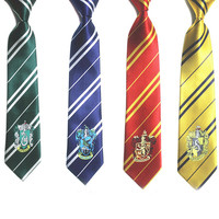 4 Color Fashion New Tie Clothing Accessories Borboleta Necktie College Style Tie Harry Potter Gryffindor Series Tiestyle Gift- Best Christmas Gift