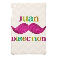 Juan Direction Fake Glitter Mustache from Zazzle.com