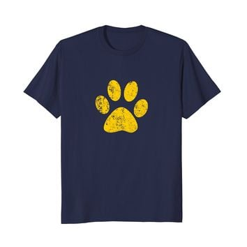 Dog Cat Paw Print Bulldogs Wildcats Huskies Tigers T Shirt