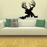 Wall Decal Vinyl Sticker Wild Animal Deer Reindeer Decor Sb432