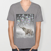 The Simple Things Are the Most Extraordinary (Elephant-Size Dreams) V-neck T-shirt by soaring anchor designs ⚓ | Society6