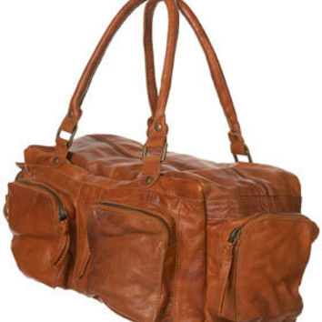 Tan Leather Maxi Pocket Holdall Bag - Leather Bags - Bags & Purses - Topshop USA