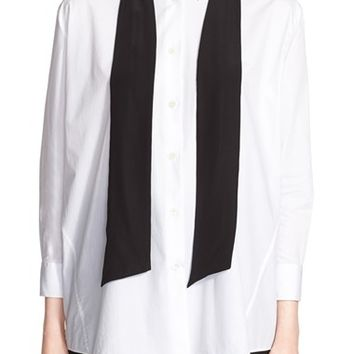 Women's ACNE Studios 'Corlette Pop' Poplin Shirt with Detachable Tie,