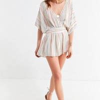 UO Moonstruck Surplice Romper | Urban Outfitters