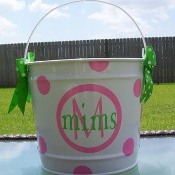Personalized 10qt. Metal Easter Bucket