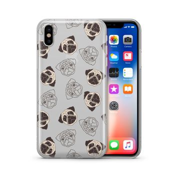 Pug Overload - Clear TPU Case Cover