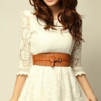 New sweet lady floral lace skirt High quality FSQZ285