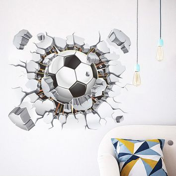 DIY Removable 3D Football Wall Sticker Stickers Bedroom Room Decor Decals