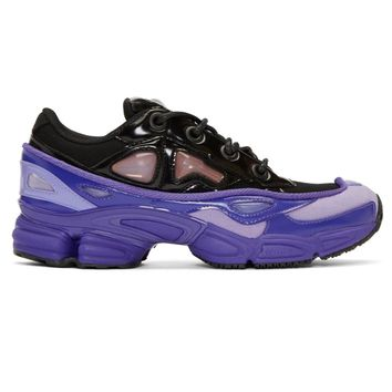 Purple and Black Ozweego Sneakers by RAF SIMONS