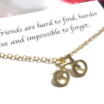 Chic Tiny Gold Retro French Bicycle Necklace, Best Friend Necklace |A5| Friendship Necklace, Best Friend Gift, Birthday Gift For Friend