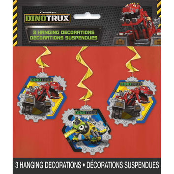 Dinotrux Hanging Swirl Party Decorations [3 per Pack]