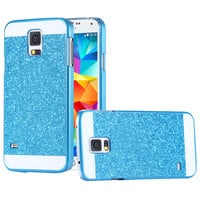 Luxury Bling Case For Samsung Galaxy S5 I9600 SV Glitter Powder Slim Hard Back Phone Cover For Galaxy S5 With Logo Fashion Women
