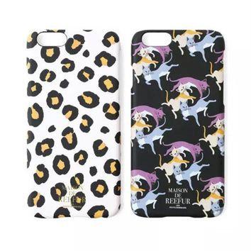 VLX2WL Stylish Cute Hot Deal Iphone 6/6s On Sale Hot Sale Iphone Fashion Leopard Cats Phone Case [8864261895]