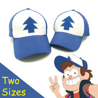 High quality cotton Gravity Falls U.S Cartoon Animation Mabel Dipper Fans Adult kids Boys Girls baseball Hat Caps Gorras planas