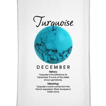 Birthstone Turquoise Flour Sack Dish Towel by TooLoud