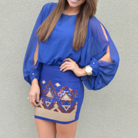 You'll Wake Up And Miss Me Dress: Royal Blue