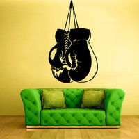 rvz1374 Wall Decal Vinyl Sticker Decals Boxing Sport Gloves Training
