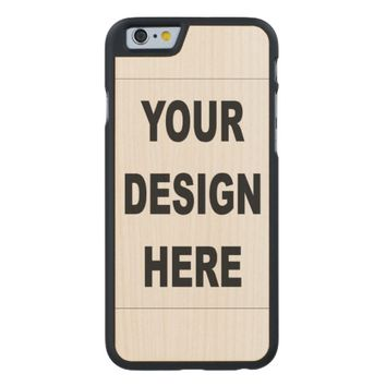 Customized Carved Maple iPhone 6 Slim Wood Case