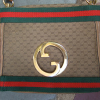 GUCCI Vintage Canvas Blondie Shoulder Bag c 1970s Genuine