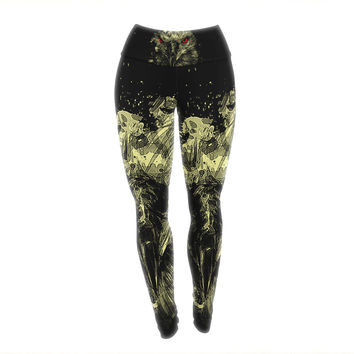 "BarmalisiRTB ""Eagle"" Black Yellow Yoga Leggings"