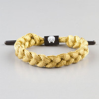 Rastaclat Shoelace Bracelet Gold One Size For Men 23526562101