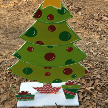 Outdoor decoration Outdoor Christmas decor Unique outdoor decor - Wood Christmas tree - Christmas tree wood- © Jack Jack's Wayart