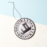 Brooklyn Black & White Car Air Freshener