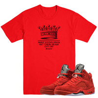 YOUNG KINGS- Jordan Red Suede 5