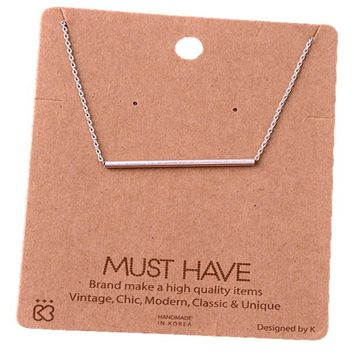 Must Have-Single Bar Necklace, Silver