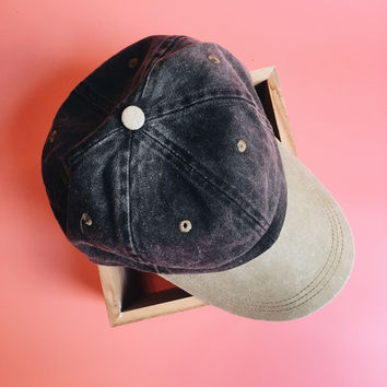 Two Tone Baseball Cap (BLACK)