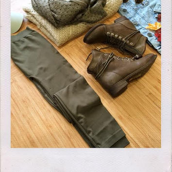 Dorin Basic Leggings- Olive
