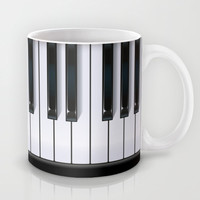 Piano Mug by Rob Snow